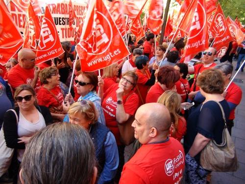 Continúan las movilizaciones por el bloqueo del convenio de Limpieza de Edificios y Locales de Madrid