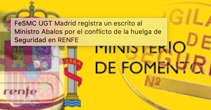 Mañana jueves comienza la huelga de vigilantes de seguridad en Renfe Operadora