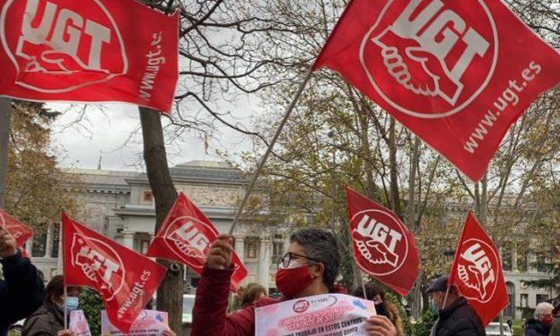 Protesta de trabajadoras de limpieza de centros sociosanitarios de Madrid